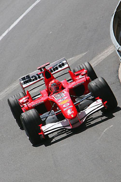 M.Schumacher in one of his last races
