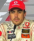 Fernando Alonso just after the 2007 F1 Europe race