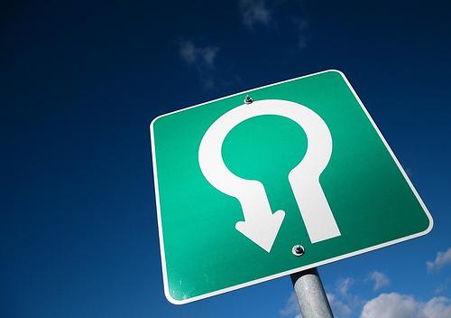 U turn sign